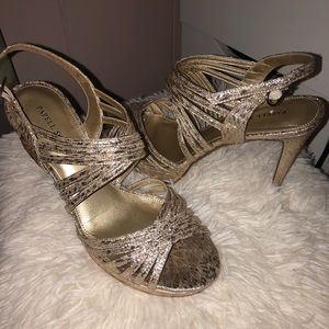 Gold heels only worn once!